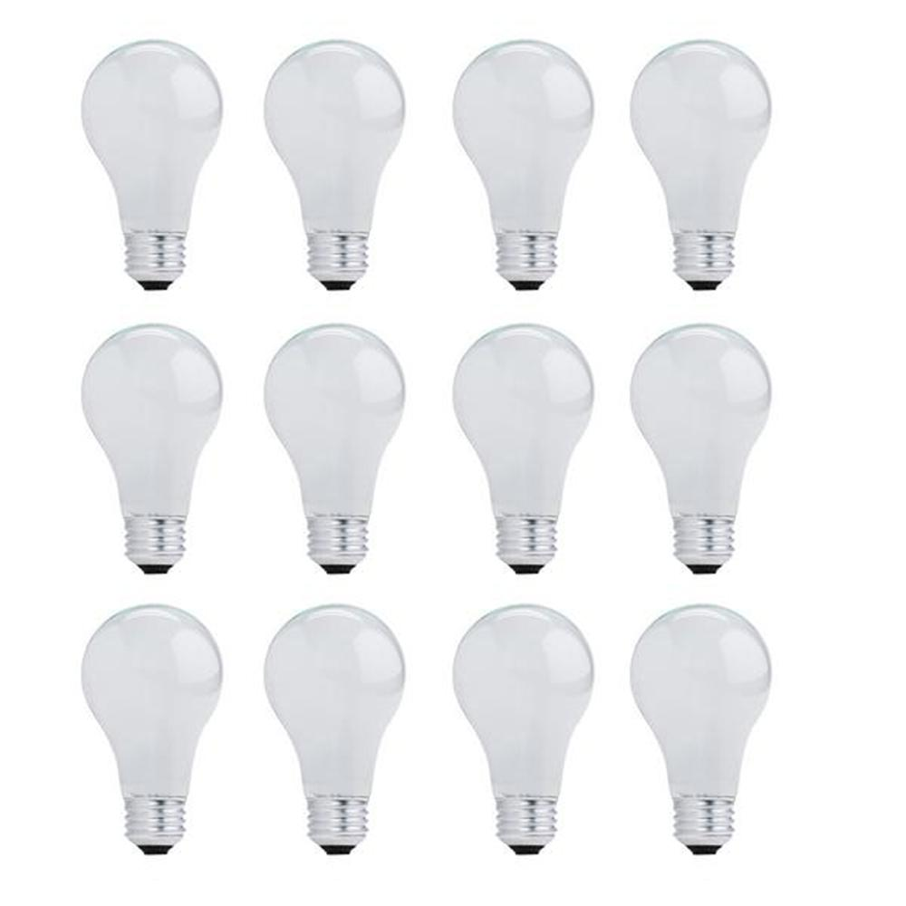 Bulbrite 29-Watt A19 Dimmable Soft White Light Halogen Light Bulb (12-Pack)