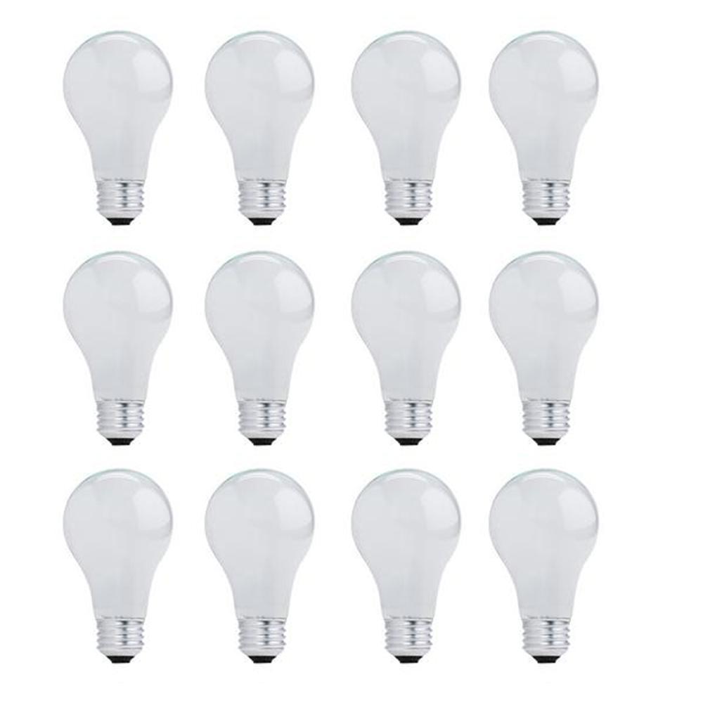 29-Watt A19 Dimmable Soft White Light Halogen Light Bulb (12-Pack)