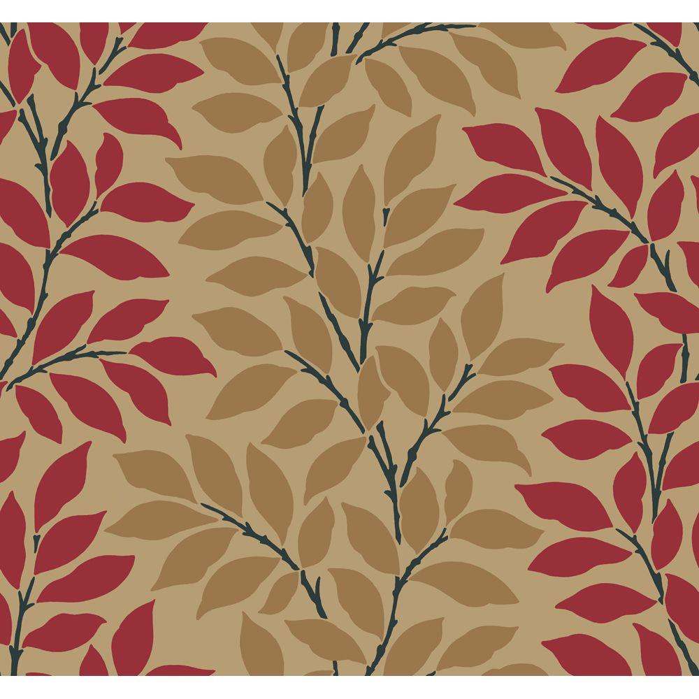 York Wallcoverings Leaf Stripe Wallpaper