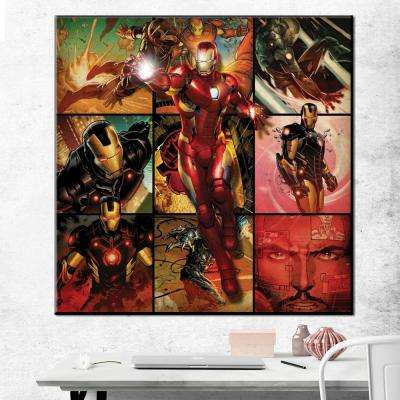 """33 in. x 33 in. """"Iron Man - Montage"""" Printed Canvas Wall Art"""