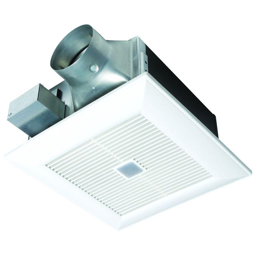 Panasonic quiet 80 or 110 cfm ceiling dual speed exhaust for Part f bathroom fan