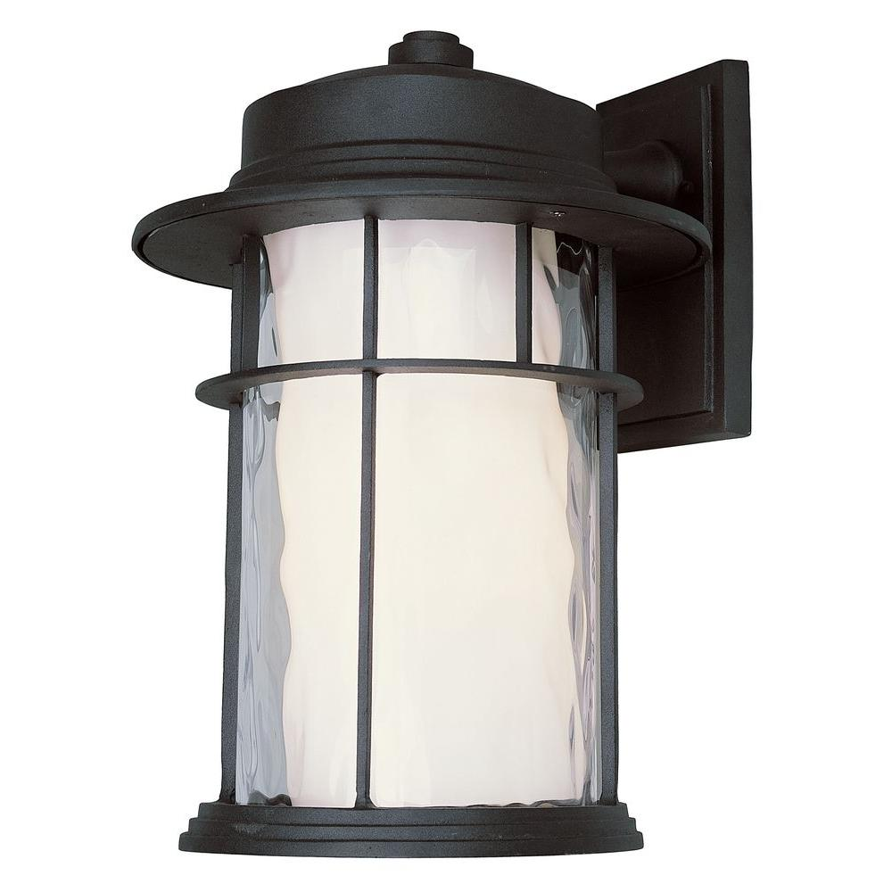 Bel Air Lighting Stewart 6-Light Black Outdoor LED Wall Lantern