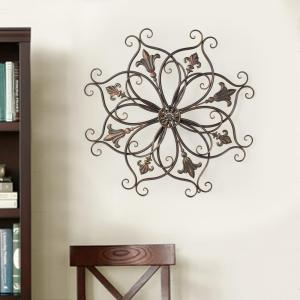 37 inch x 37 inch Round Metal Wall Decor by