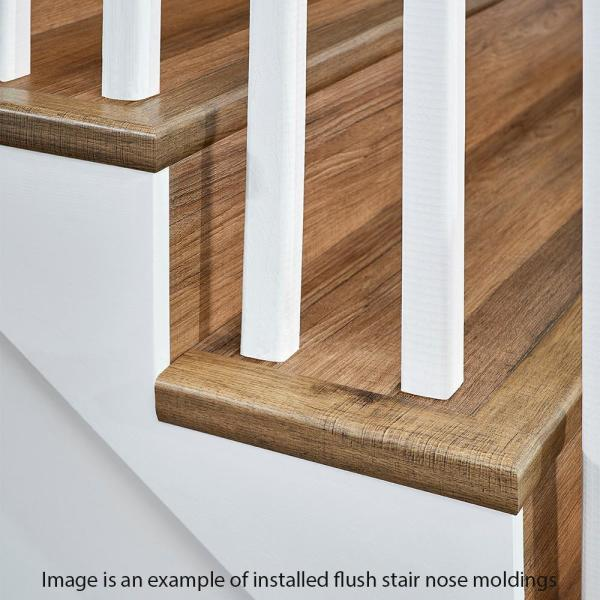 Home Decorators Collection Trail Oak Brown 7 Mm Thick X 2 In Wide X 94 In Length Coordinating Vinyl Stair Nose Molding Ve 60208 The Home Depot