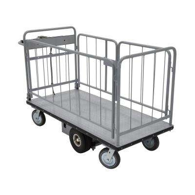 28 in. x 60 in. 1500 lbs. Load Capacity Electric Metal Handle with Sides Cart