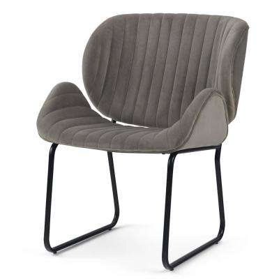 Rivley Taupe Velvet Accent Chair