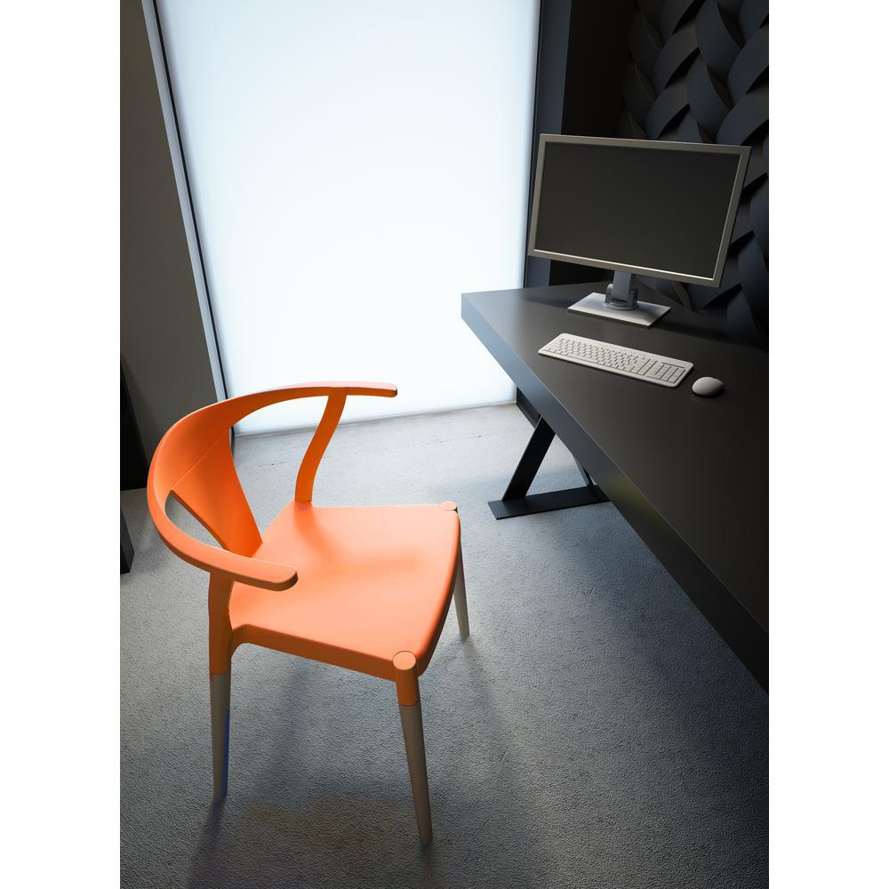 Groovy Cozyblock Icon Series Orange Modern Accent Dining Arm Chair Uwap Interior Chair Design Uwaporg