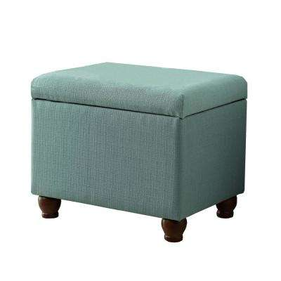 Aqua Textured Medium Storage Bench
