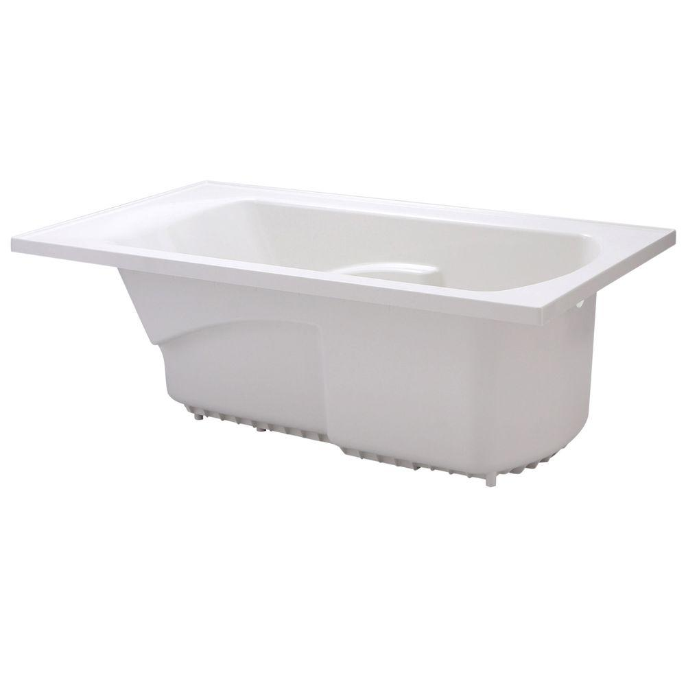 STERLING Lawson 5 ft. Rectangular Drop-in Reversible Drain Soaking Tub in White