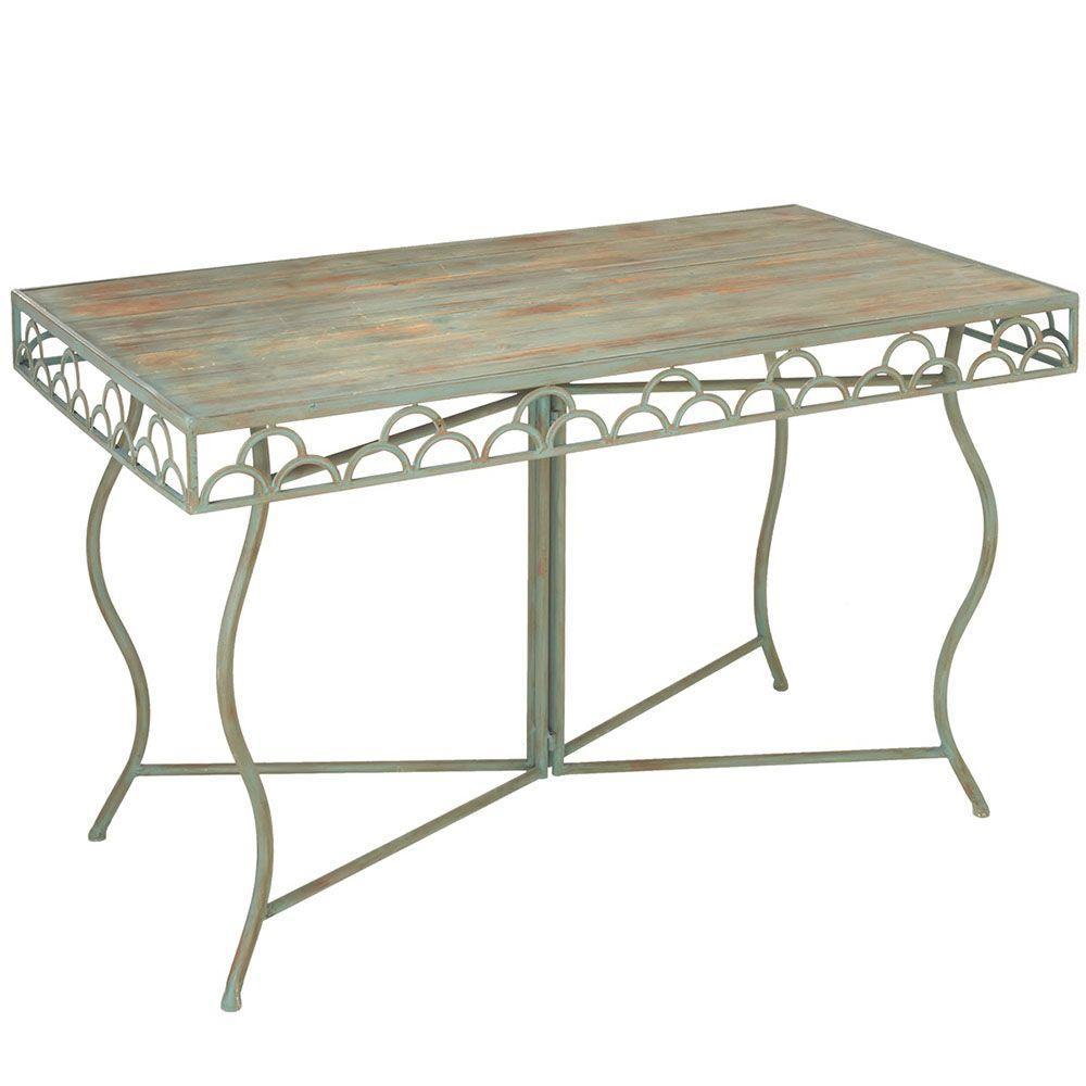 Filament Design Sundry Metal Rectangular Table in Sage