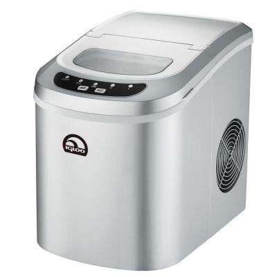 26 lb. Freestanding Ice Maker in Silver