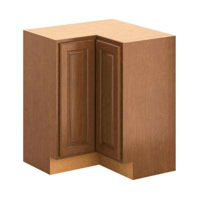 Hampton Bay Madison Assembled 28.5x34.5x28.5 inch Lazy Susan Corner Base Cabinet in Cognac by Hampton Bay