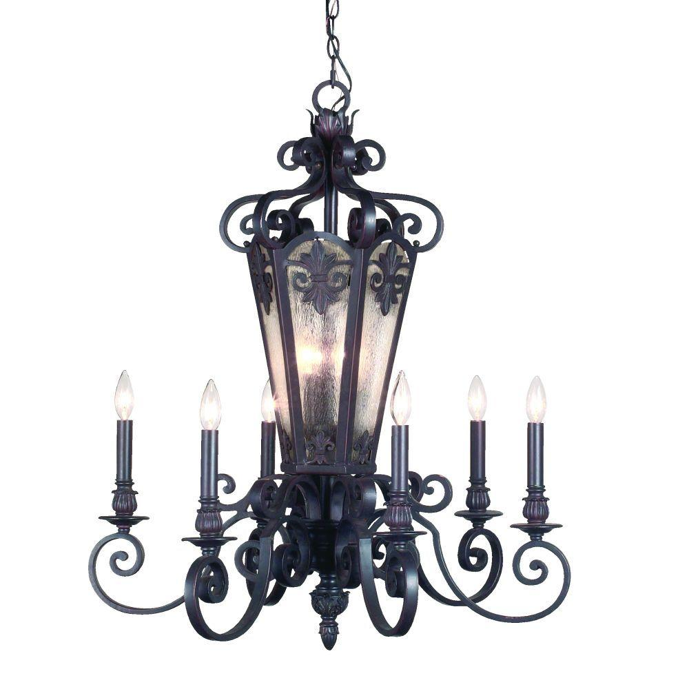 Eurofase Lonsdale Collection 9-Light Aged Iron Hanging Chandelier