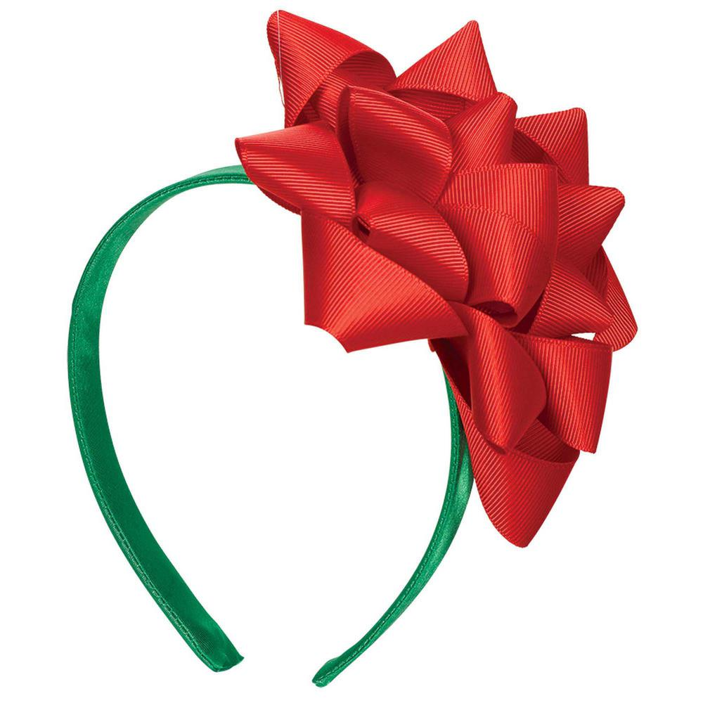 Amscan 7 in x 55 in gift bow christmas headband 2 pack 396579 gift bow christmas headband 2 pack negle Image collections
