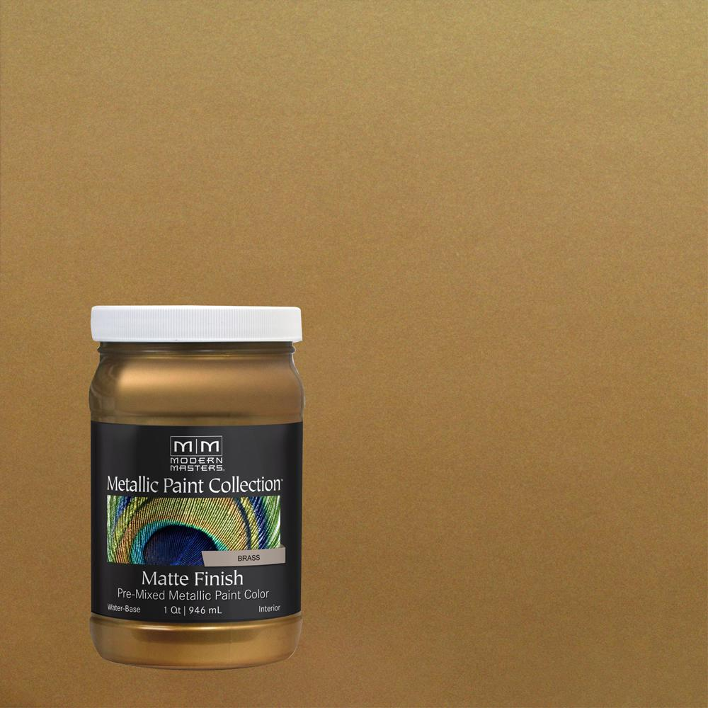 Modern Masters 1 qt. Brass Water-Based Matte Metallic Interior Paint