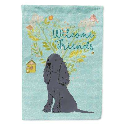 Caroline S Treasures 11 In X 15 1 2 In Polyester Welcome Friends Black Cocker Spaniel 2 Sided 2 Ply Garden Flag Bb7618gf The Home Depot