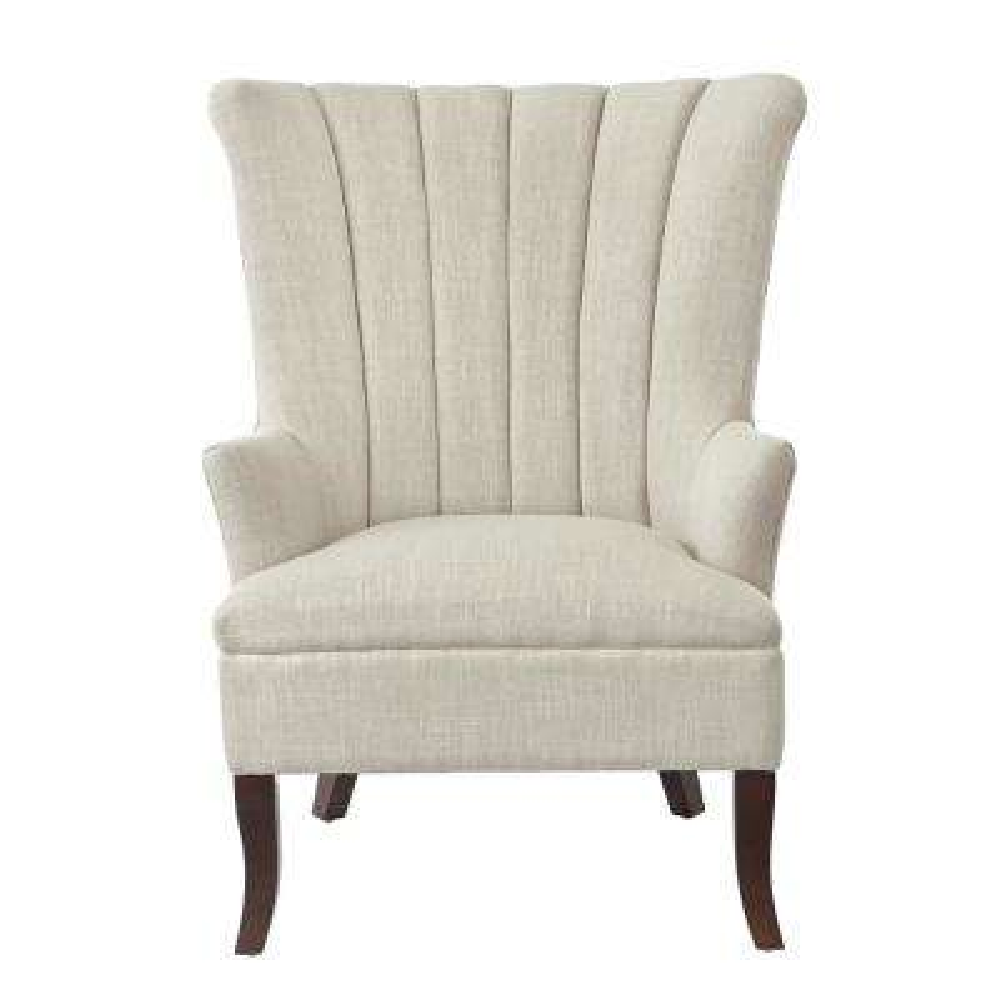 Carlotta Birch Linen Club Chair