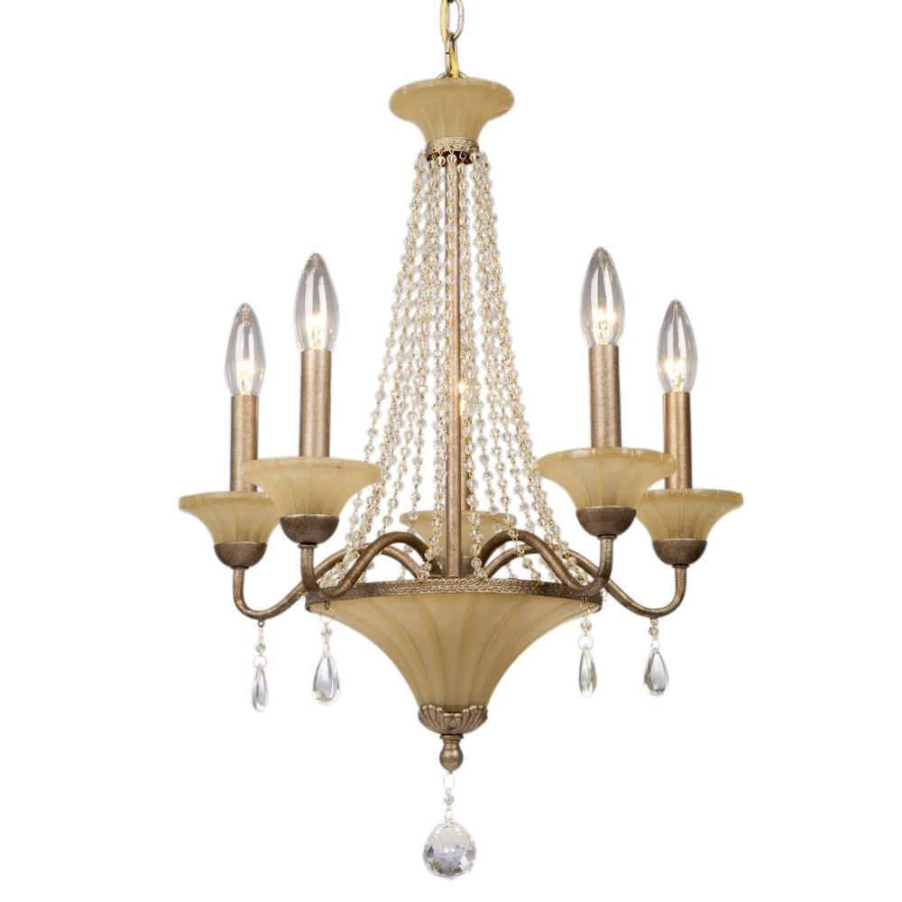 Filament Design Negron 5-Light Sable Brown Incandescent Chandelier