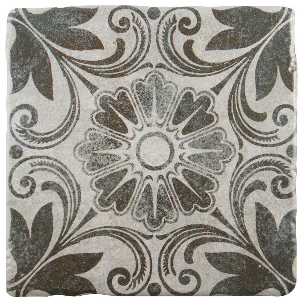 Costa Cendra Decor Dahlia 7-3/4 in. x 7-3/4 in. Ceramic Floor and Wall Tile (11.5 sq. ft. / case)