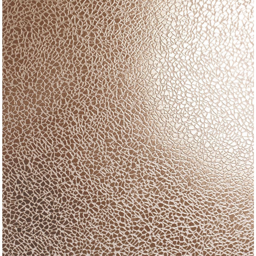 Harrington Rose Gold Mirror Texture Wallpaper
