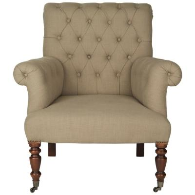 Bennet True Taupe/Black Accent Chair