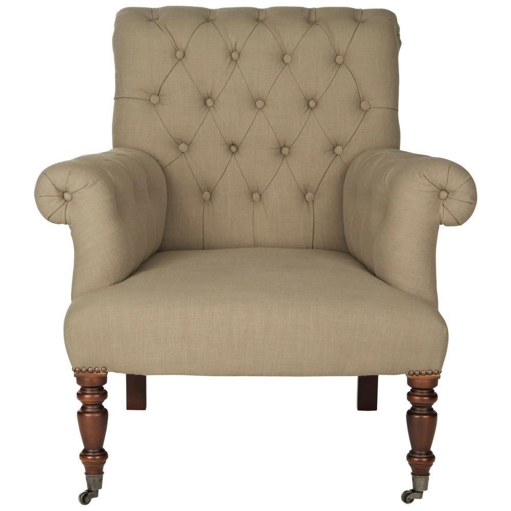 Safavieh Bennet True Taupe/Black Accent Chair MCR4737A