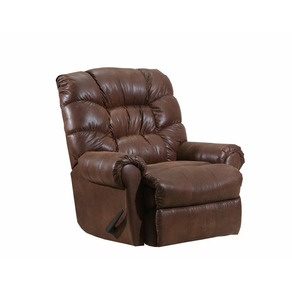 Cortez Leather Look Cognac Rocker Recliner
