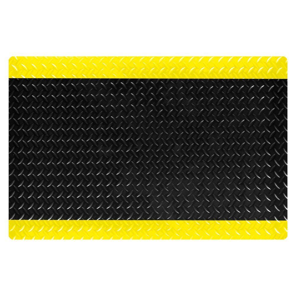 Industrial Floor Mats: TrafficMASTER Black 36 In. X 36 In. Rubber Anti-Fatigue