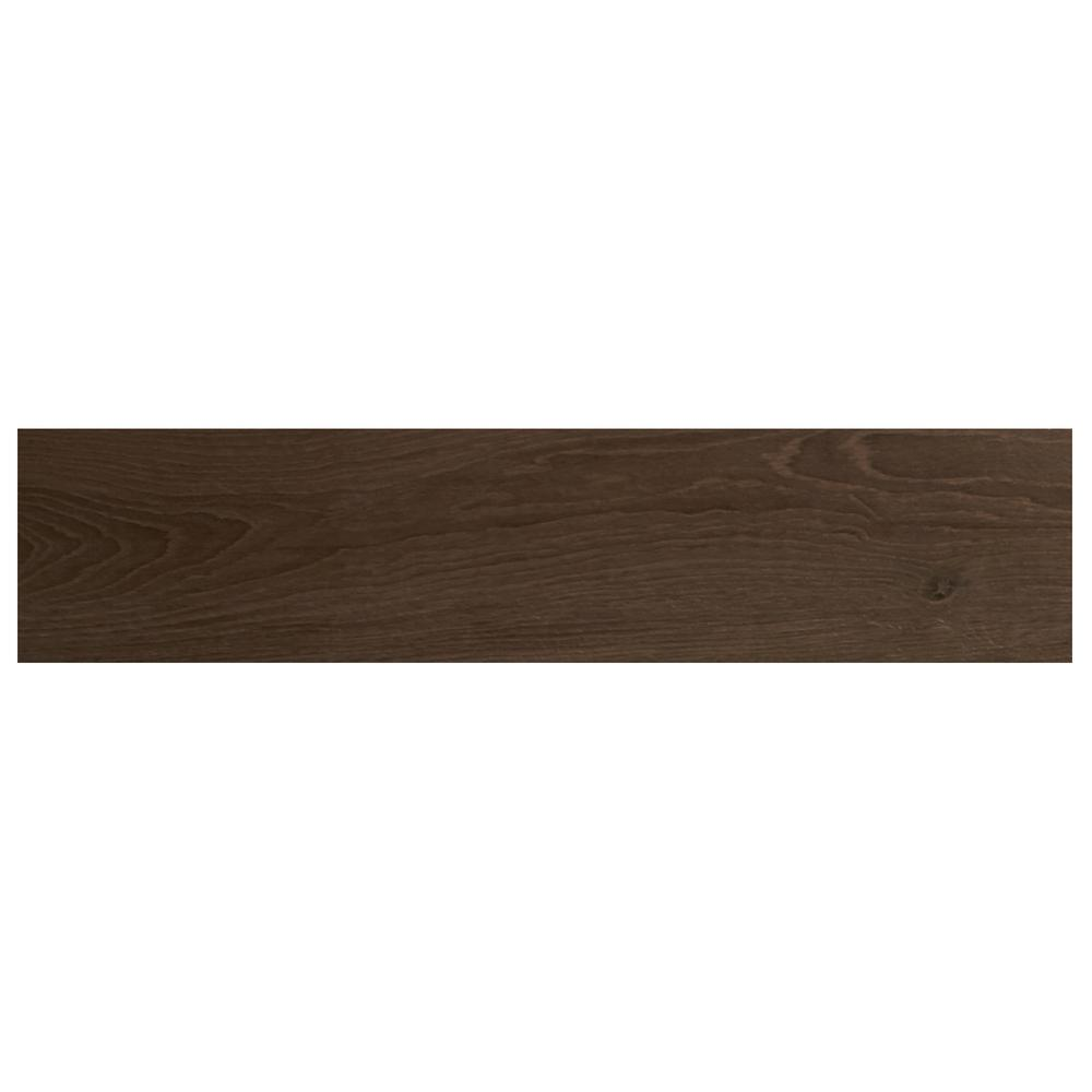 Daltile Lakewood Dark Brown 8 in. x 36 in. Ceramic Floor and Wall ...