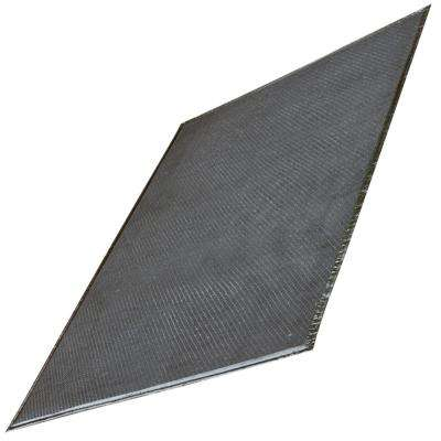 32 in. x 60 in. Gray BBQ Mat with Grid