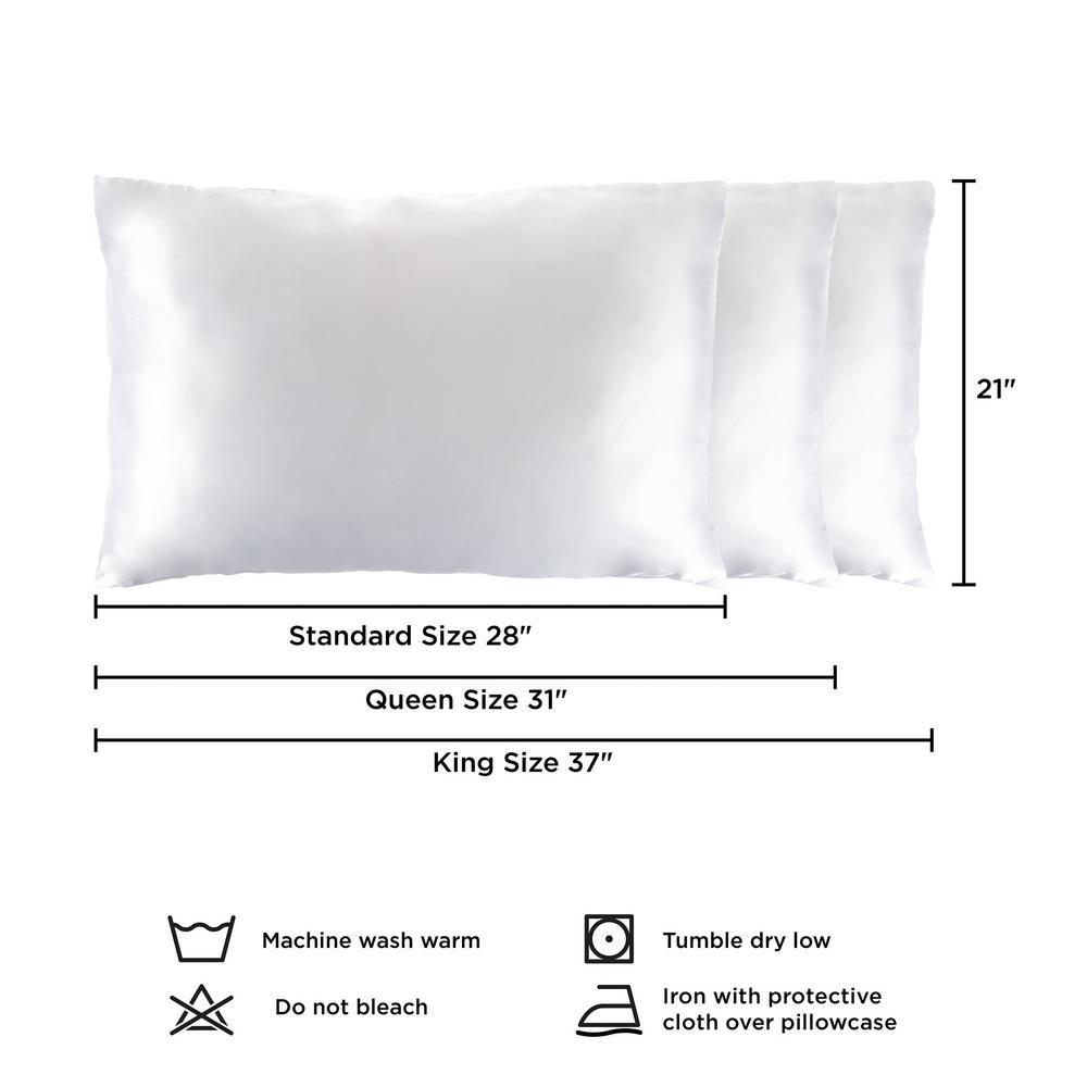 Lavish Home Polyester Satin Microfiber King Size Pillowcase with