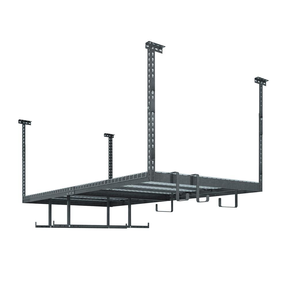VersaRac Set with 1-Overhead Rack and 6-Piece Accessory Kit (VersaRac, Hanging Bars, S-Hooks)