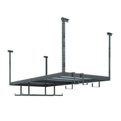 VersaRac Set with 1-Overhead Rack and 6-Piece Accessory Kit (VersaRac, Hanging Bars, S-Hooks)