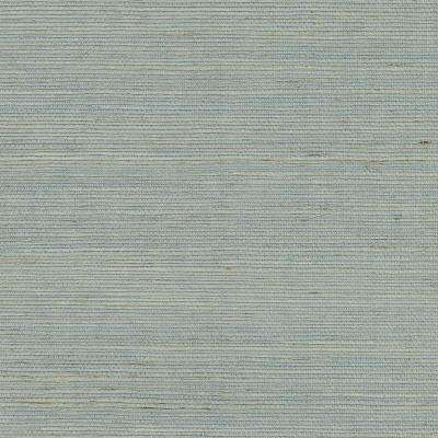 72 sq. ft. Zhejiang Aquamarine Grass Cloth Wallpaper