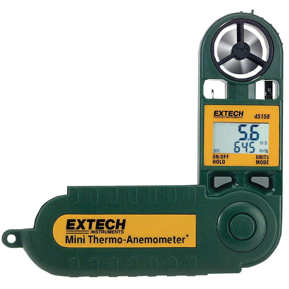 Extech Instruments Mini Thermo-Anemometer with Humidity