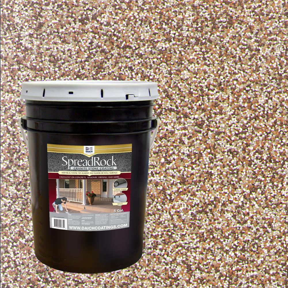 Swell Granite Stone Coating 5 Gal Brownstone Satin Interior Exterior Concrete Resurfacer And Sealer Interior Design Ideas Skatsoteloinfo