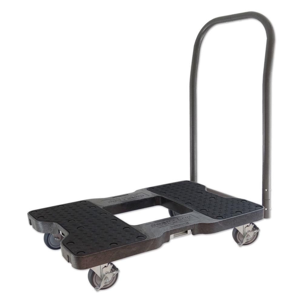 SNAP-LOC 1500 lb. Capacity Push Cart Dolly in Black