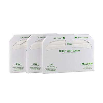 White Flushable Toilet Seat Covers (750-Sheets)