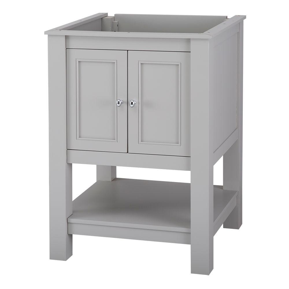 Gazette 25 in. x 19 in. Vanity in Grey with Granite