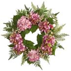 Nearly Natural 24 in. Hydrangea Berry Wreath