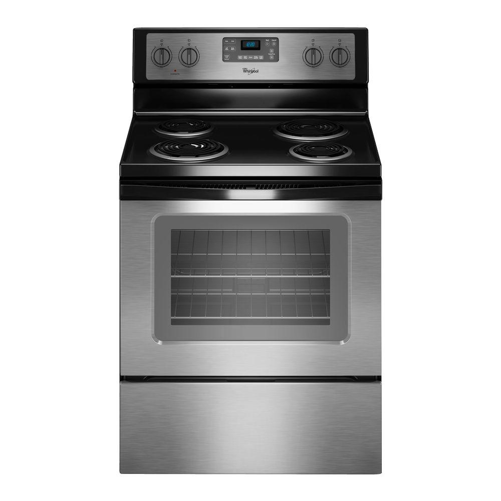 whirlpool 30 in 4 8 cu ft electric range with self cleaning oven rh homedepot com Whirlpool Washing Machines UK Whirlpool Oven Parts