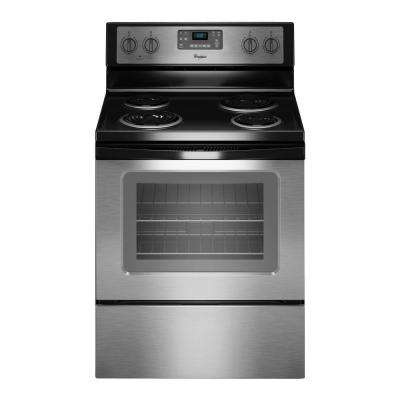 30 in. 4.8 cu. ft. Electric Range with Self-Cleaning Oven in Stainless Steel