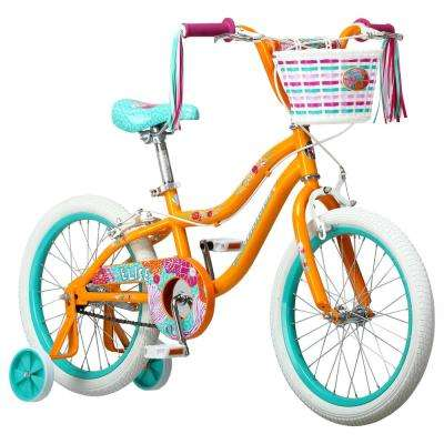 18 in. Girls Bike for Ages 4-7 Years in Yellow