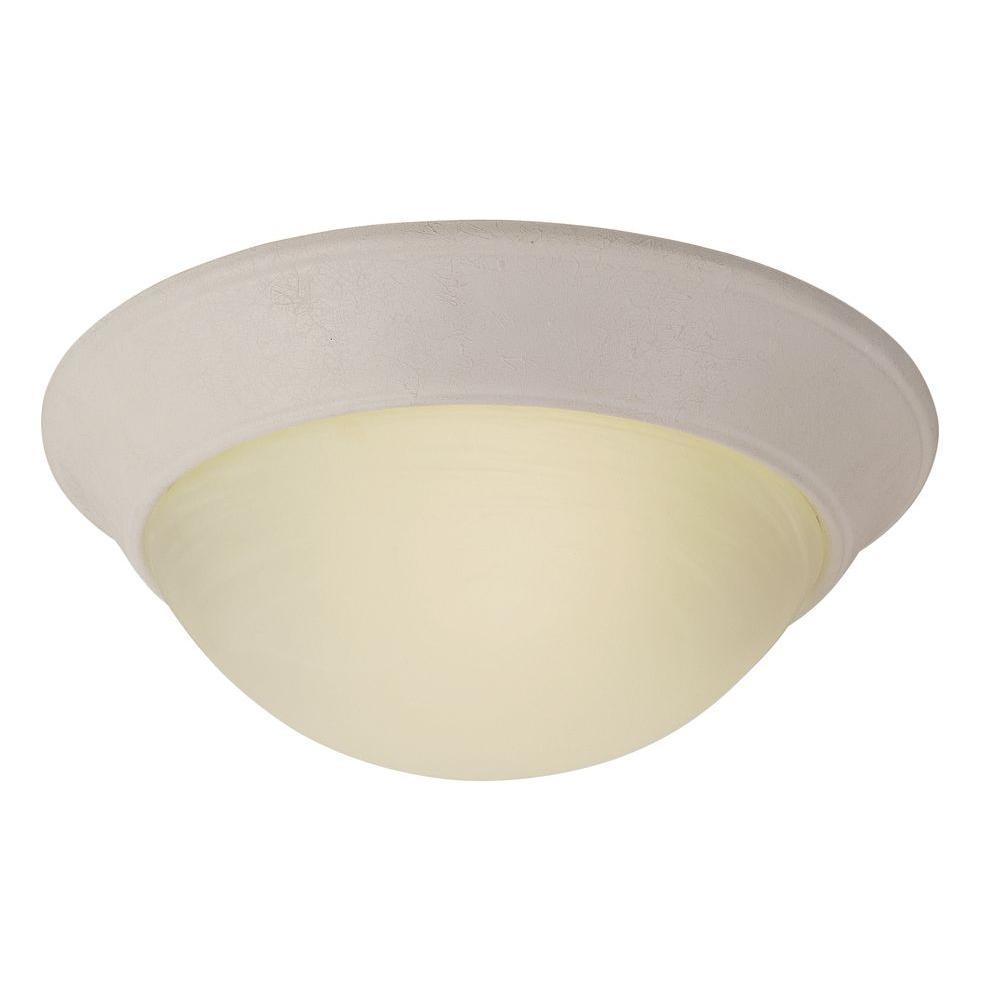 Stewart 2-Light White Incandescent Ceiling Flushmount