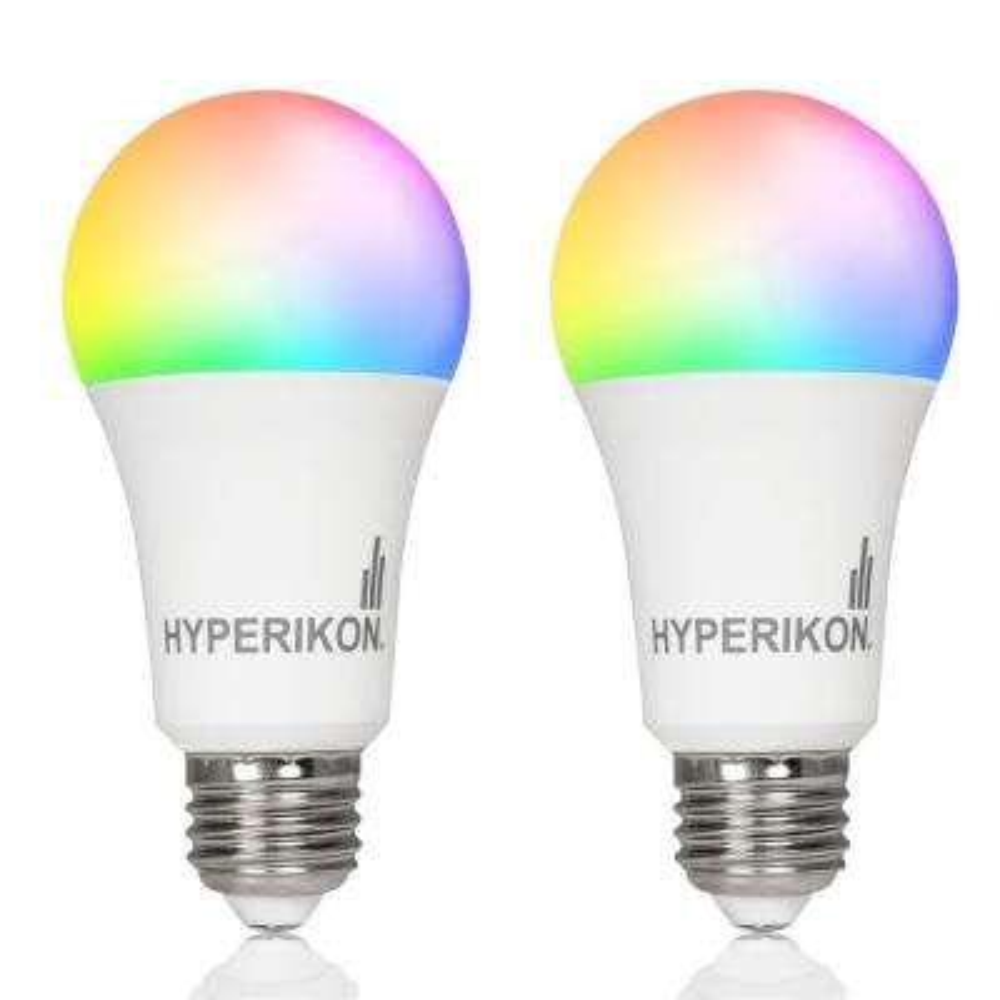 60-Watt Equivalent A19 Smart LED Light Bulb 3000K RGB Changing Light Color Wi-Fi Connected (2-Bulbs)