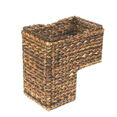 16 in. L x 10 in. W x 15-1/2 in. H BacBac Leaf Woven Stair Basket