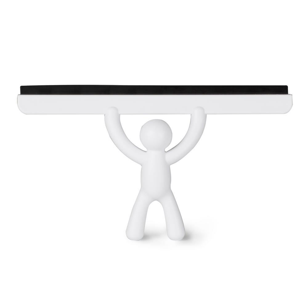 10.5 in. Buddy Shower Squeegee in White