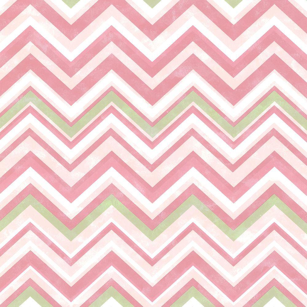 Chesapeake Susie Pink Chevron Wallpaper Sample