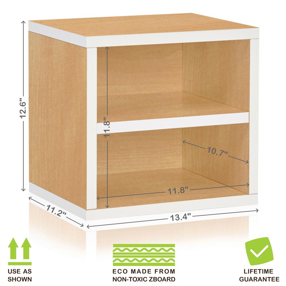 This Review Is From:Connect System 11.2 X 13.4 X 13.4 ZBoard Stackable Storage  Cube Organizer Unit With Shelf In Natural/White
