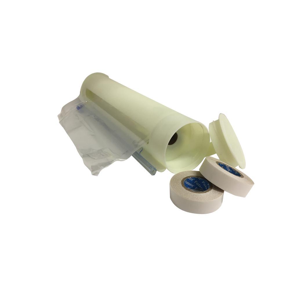 126 in. W x 62 in. H Cylinder EZ Roll Dispenser Shrink Window Kit (3-Pack)